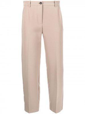Укороченные брюки прямого кроя Pinko. Цвет: серый