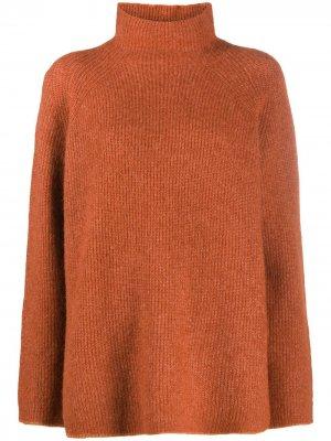 Джемпер с высоким воротником By Malene Birger. Цвет: коричневый