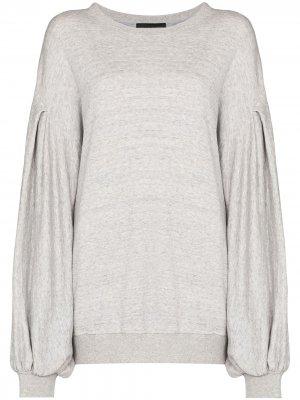 Рубашка Kyla со складками на рукавах Made in Tomboy. Цвет: серый