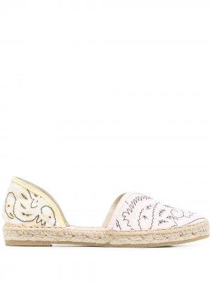 Сандалии с миндалевидным носком и принтом Manebi. Цвет: розовый