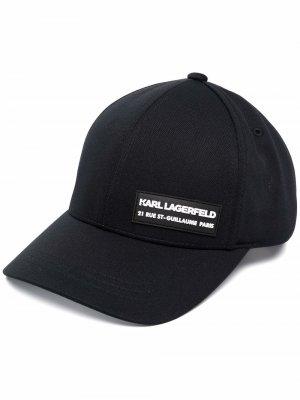 Кепка с логотипом Karl Lagerfeld. Цвет: черный