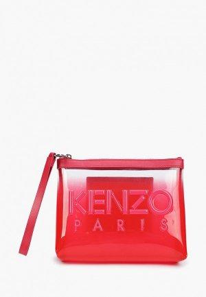 Клатч Kenzo. Цвет: красный