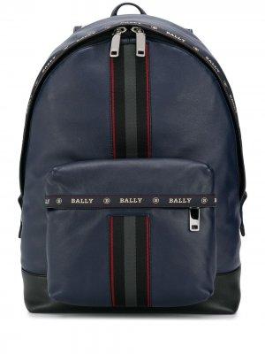 Рюкзак с контрастными полосками Bally. Цвет: синий