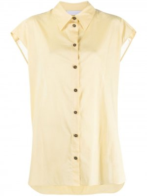Поплиновая рубашка оверсайз Olivia Erika Cavallini. Цвет: желтый