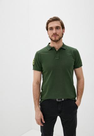 Поло Blend. Цвет: зеленый