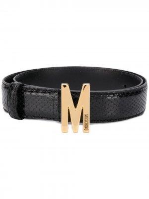 Ремень с пряжкой M Moschino. Цвет: черный