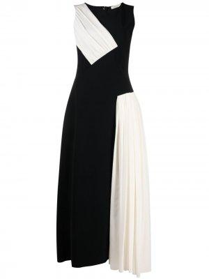 Платье с контрастными вставками Nina Ricci. Цвет: черный