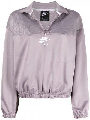 Куртка на молнии с логотипом Nike. Цвет: фиолетовый