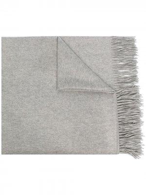 Кашемировая шаль N.Peal. Цвет: серый