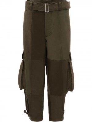 Зауженные брюки карго JW Anderson. Цвет: зеленый
