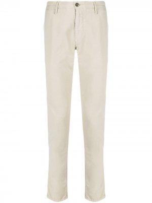Узкие брюки чинос низкой посадки Incotex. Цвет: нейтральные цвета