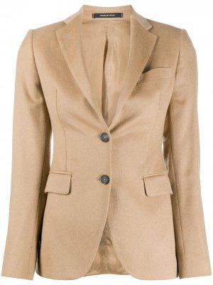 Приталенный однобортный пиджак Tagliatore. Цвет: нейтральные цвета