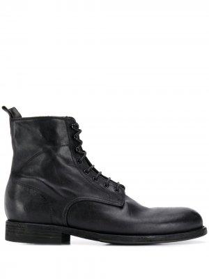 Ботинки на шнуровке Pantanetti. Цвет: черный