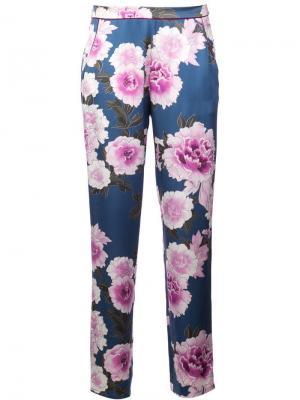 Пижамные брюки с цветочным принтом Fleur Du Mal. Цвет: разноцветный