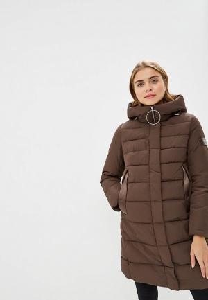 Куртка утепленная Clasna. Цвет: коричневый