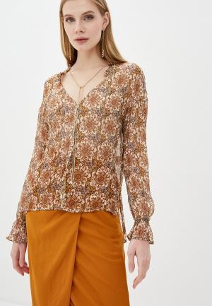 Блуза Patrizia Pepe. Цвет: коричневый