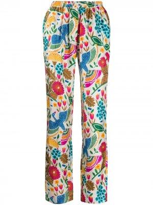 Пижамные брюки Colombo с принтом La Doublej. Цвет: белый