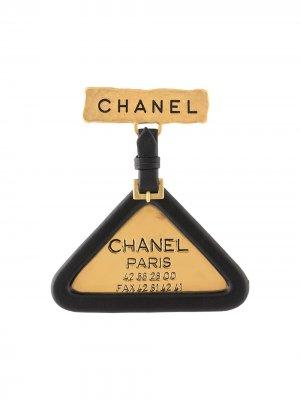 Брошь 1994-го года Chanel Pre-Owned. Цвет: золотистый