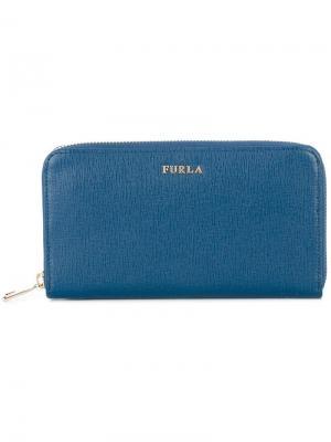 Кошелек с логотипом Furla. Цвет: синий