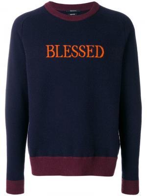 Blessed knit sweater Qasimi. Цвет: синий