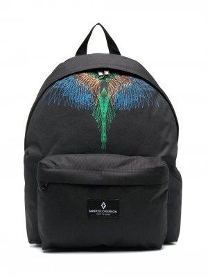 Wings Graphic backpack Marcelo Burlon County Of Milan Kids. Цвет: черный
