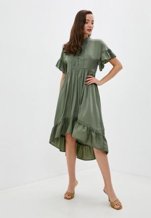 Платье Love Republic. Цвет: хаки
