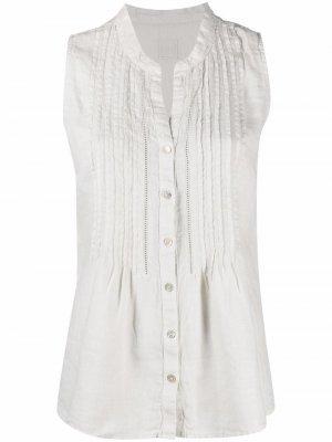 Рубашка без рукавов 120% Lino. Цвет: нейтральные цвета