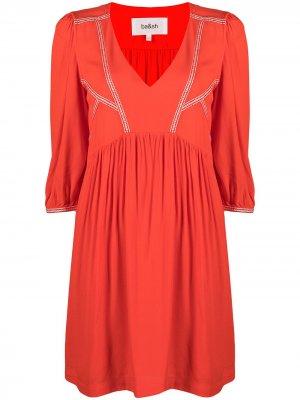 Платье Alma со сборками Ba&Sh. Цвет: красный