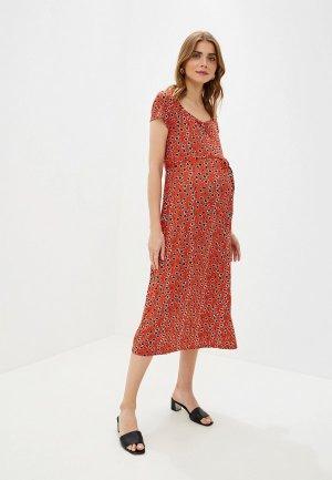 Платье Dorothy Perkins Maternity. Цвет: красный