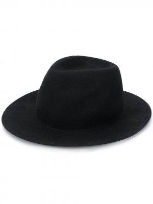 Шляпа с узкими полями Ann Demeulemeester. Цвет: черный