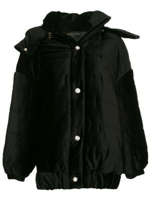 Porter detachable hood velvet jacket Mother Of Pearl. Цвет: черный
