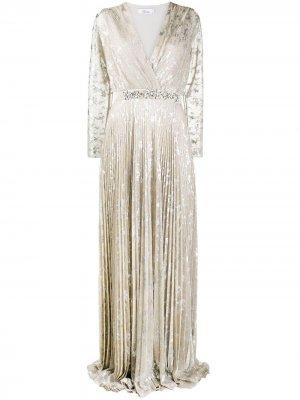 Вечернее платье с эффектом металлик Blumarine. Цвет: золотистый