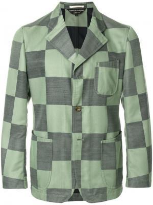 Куртка в клетку Comme Des Garçons Pre-Owned. Цвет: зеленый