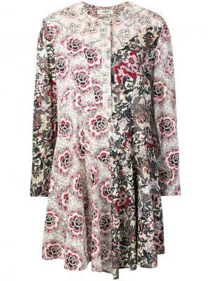 Lissande contrast floral-print dress Isabel Marant Étoile. Цвет: белый