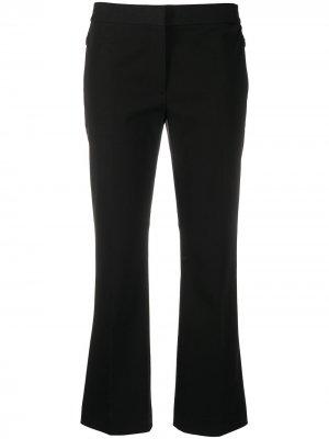 Укороченные расклешенные брюки Theory. Цвет: черный