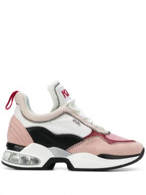 Кроссовки на массивной подошве Karl Lagerfeld. Цвет: розовый
