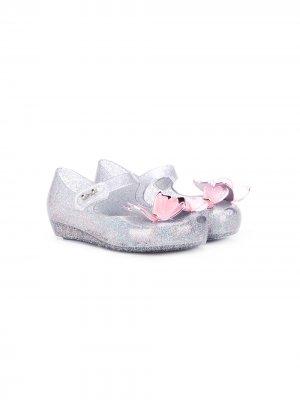 Декорированные туфли Mini Melissa. Цвет: серый