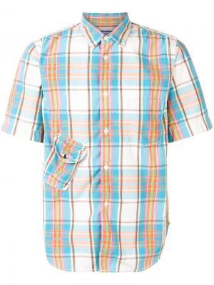 Рубашка в клетку с короткими рукавами Junya Watanabe Comme des Garçons Pre-Owned. Цвет: синий