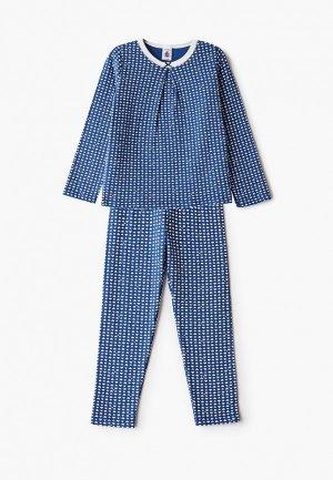 Пижама Petit Bateau. Цвет: синий