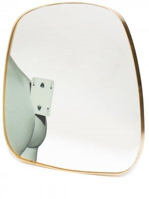Зеркало Two of Spades (59 см) Seletti. Цвет: золотистый