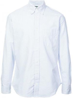 Классическая рубашка в полоску Gitman Vintage. Цвет: синий