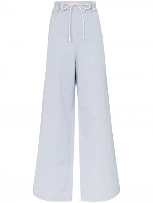 Широкие брюки с поясом в виде веревки AMBUSH. Цвет: синий