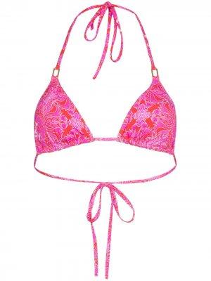 Лиф бикини с цветочным принтом Melissa Odabash. Цвет: розовый