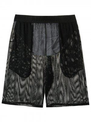 Mesh swim shorts Amir Slama. Цвет: черный