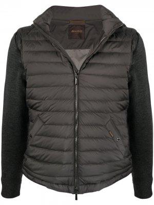 Куртка с дутыми вставками Moorer. Цвет: серый