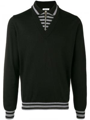 Panelled polo sweater Dirk Bikkembergs. Цвет: черный