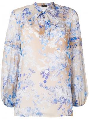 Pussy bow floral blouse Les Copains. Цвет: нейтральные цвета