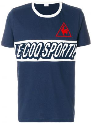 Футболка с принтом-логотипом Le Coq Sportif. Цвет: синий