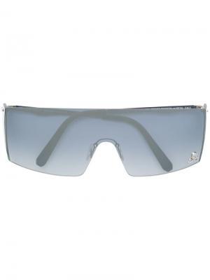 Градиентные солнцезащитные очки в квадратной оправе Philipp Plein. Цвет: серебристый