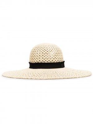 Соломенная шляпа Blanche Maison Michel. Цвет: нейтральные цвета